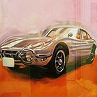 [TOYOTA 2000GT / トヨタ 2000GT] Acrylic on Wood Board / 600×900mm